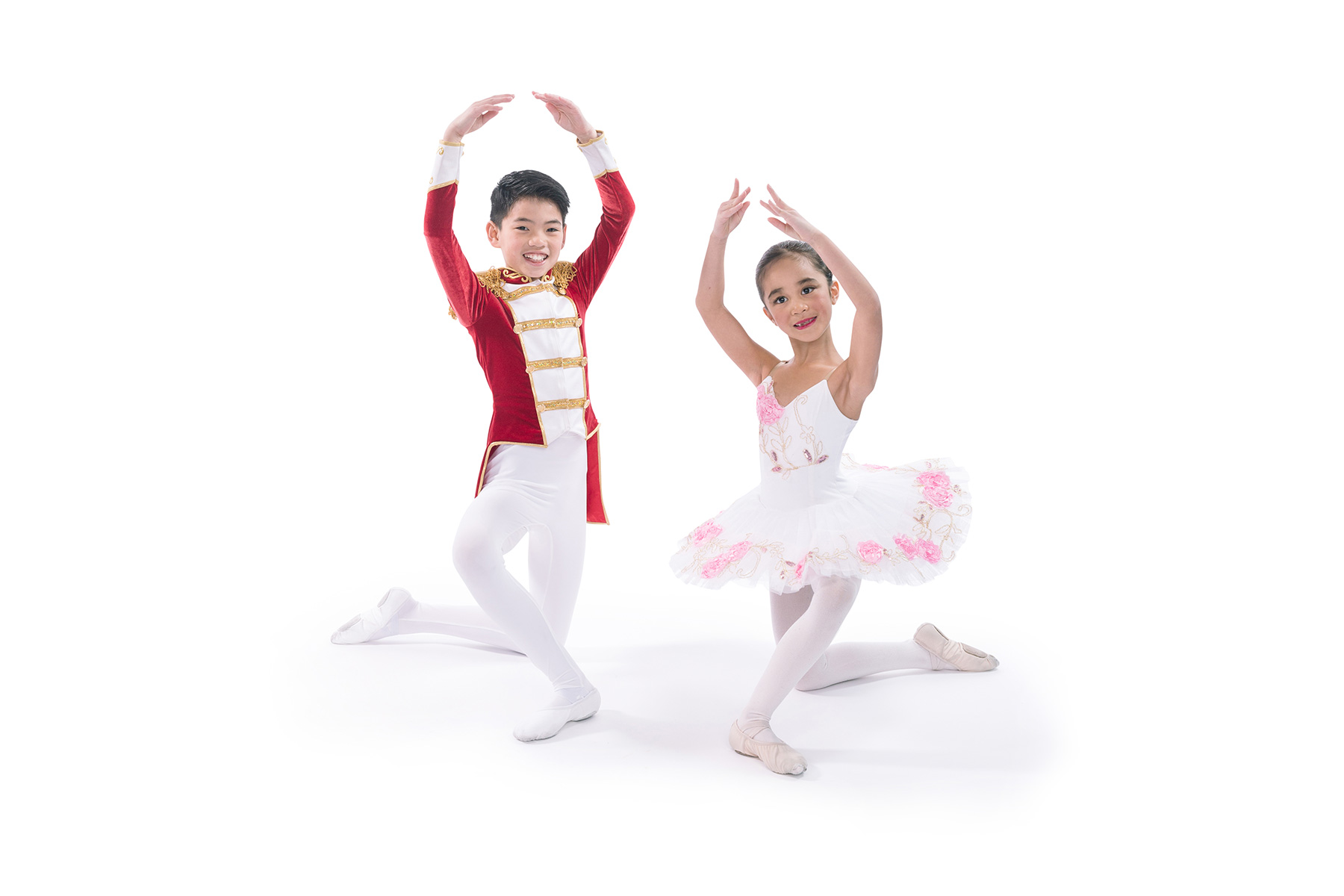 Dance Creations Ballet Dancers Posed in Nutrcracker attire.