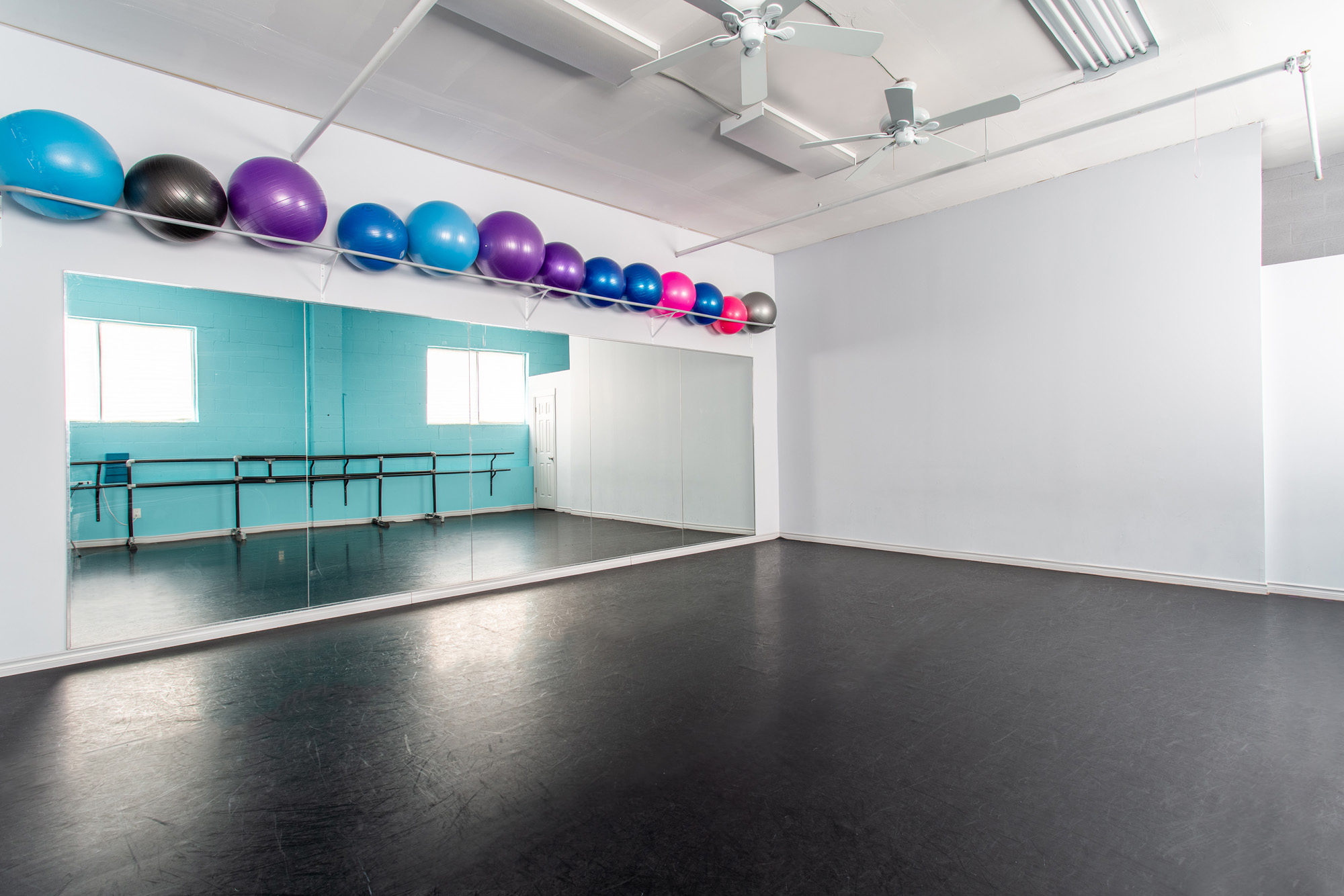 Dance Creations Dance Studio with natural light